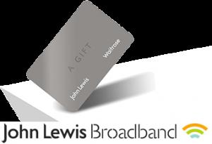 John Lewis Broadband Gift Card Voucher